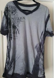 Affliction sewn up sides shirt